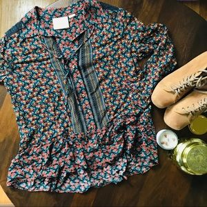 Anthropologie MAEVE bohemian blouse